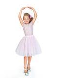 Liten dansare i en rosa klänning Arkivbilder