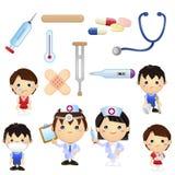 Liten doktor Kids Vektor Illustrationer