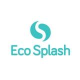 Liten droppe Ying Yang Splash Logo för Eco vattendroppe Royaltyfri Foto