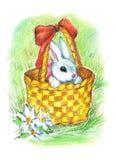 liten easter kanin vektor illustrationer