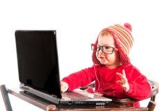 Liten en hacker Royaltyfria Foton