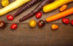 Liten färgrik släktklenod Cherry Tomatoes Arkivbild
