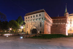 Liten fästning framme av stadsporten Arkivfoto