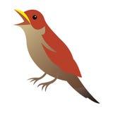 liten fågel royaltyfri illustrationer