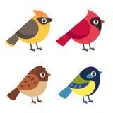 Liten fågeluppsättning vektor illustrationer