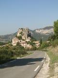liten by för fransk back Arkivfoton