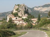 liten by för fransk back Royaltyfria Bilder