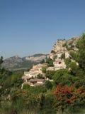 liten by för fransk back Arkivbilder