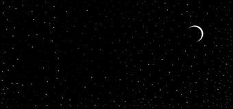 Liten förmörkelse för färgrik abstrakt himmel för nattsiktssvart som shinning månebakgrund för stjärna stock illustrationer