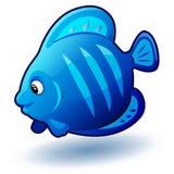 Liten fisk för gullig tecknad film Illustration för vektorgemkonst med enkla lutningar Royaltyfri Fotografi