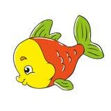 Liten fisk för roligt tecken Fotografering för Bildbyråer