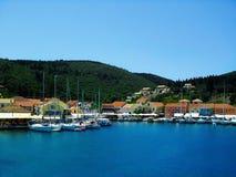Kefalonia port Royaltyfri Foto
