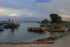 Liten fiskeport Royaltyfri Foto