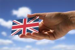 Liten flagga av Storbritannien Fotografering för Bildbyråer
