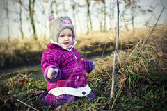 liten flicka Royaltyfria Bilder