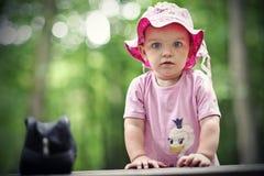 liten flicka Fotografering för Bildbyråer