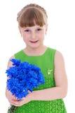 Liten flicka av blommor. royaltyfri bild