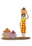 Liten flicka av kryddor Fotografering för Bildbyråer
