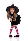 Liten flicka i den halloween dräkten Royaltyfria Foton