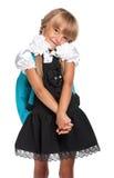 Liten flicka i skolalikformig Royaltyfri Foto