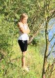 Liten flicka i våt kläder Royaltyfri Foto