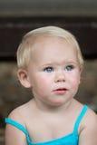 Liten flicka med blåa ögon Royaltyfri Bild