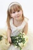 Blommaliten flicka arkivbilder