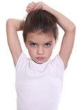 Liten flicka med härligt hår royaltyfri bild