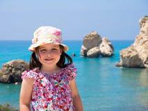 Liten flicka på ferie Royaltyfri Bild