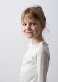 Liten flickacloseupstående Arkivfoton