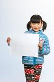 Affischtavlor som liten flicka Royaltyfri Fotografi