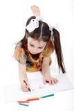 Liten flickateckning Arkivfoto