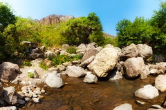 liten flod Arkivbild