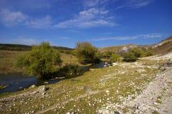 Liten flod i berg Royaltyfria Foton