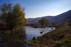 Liten flod i bergen Arkivbilder