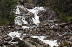 Liten flod i Quebec, Kanada Arkivfoto