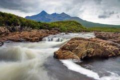 Liten flod på ön av Skye Royaltyfri Fotografi