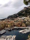 Liten flotta i Monaco Arkivfoton