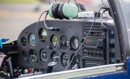 Liten flygplaninstrumentpanel Royaltyfri Fotografi