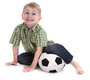 liten fotboll för 2 pojke Royaltyfria Foton