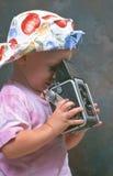 liten fotograf för flicka royaltyfri bild