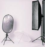 Liten fotostudio Fotografering för Bildbyråer