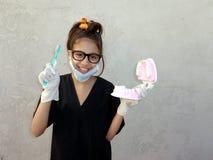 Liten futured tandläkare Fotografering för Bildbyråer