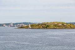 Liten fyr nära Halifax Arkivfoton