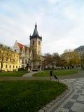 Liten fyrkant i Prague, Tjeckien Fotografering för Bildbyråer