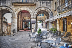 Liten fyrkant i San Marino royaltyfria foton