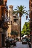 Liten gata i Palma de Mallorca Arkivfoto