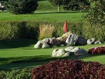 liten golf för 3 kurs Arkivbild