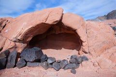 liten grottasandsten Arkivfoto