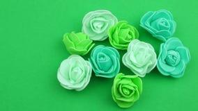 Liten grupp av gröna dekorativa florets lager videofilmer